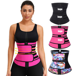 New Listing Compression Double Strap Latex Waist Trainer Women Workout Shapewear Waist Trimmer Belt With Custom Logo