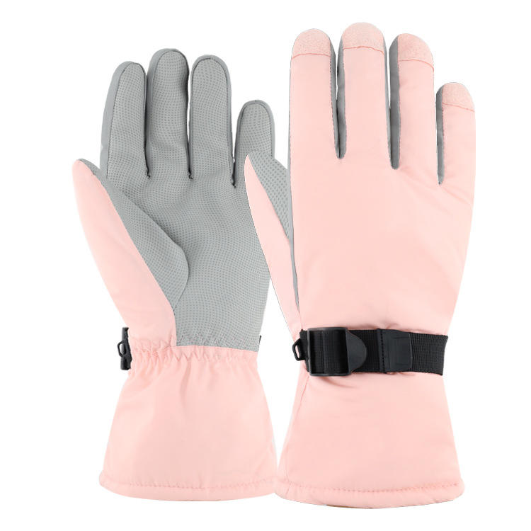 Winter Waterproof Heated Touch Screen Women Protector Snowboard Ski Gloves