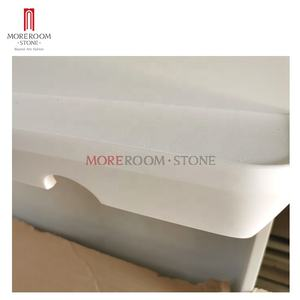 6mm OEM Artificial stone korean pure white acrylic solid surface stone sheet bathroom countertop