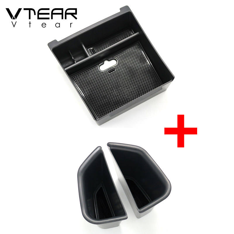 Vtear For Alfa Romeo Giulia car storage box central container holder styling tray clapboard accessories automobile decoration