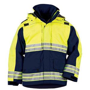 ZUJA Water Resistant Hood High Reflective Tape Windbreaker Safety Jacket
