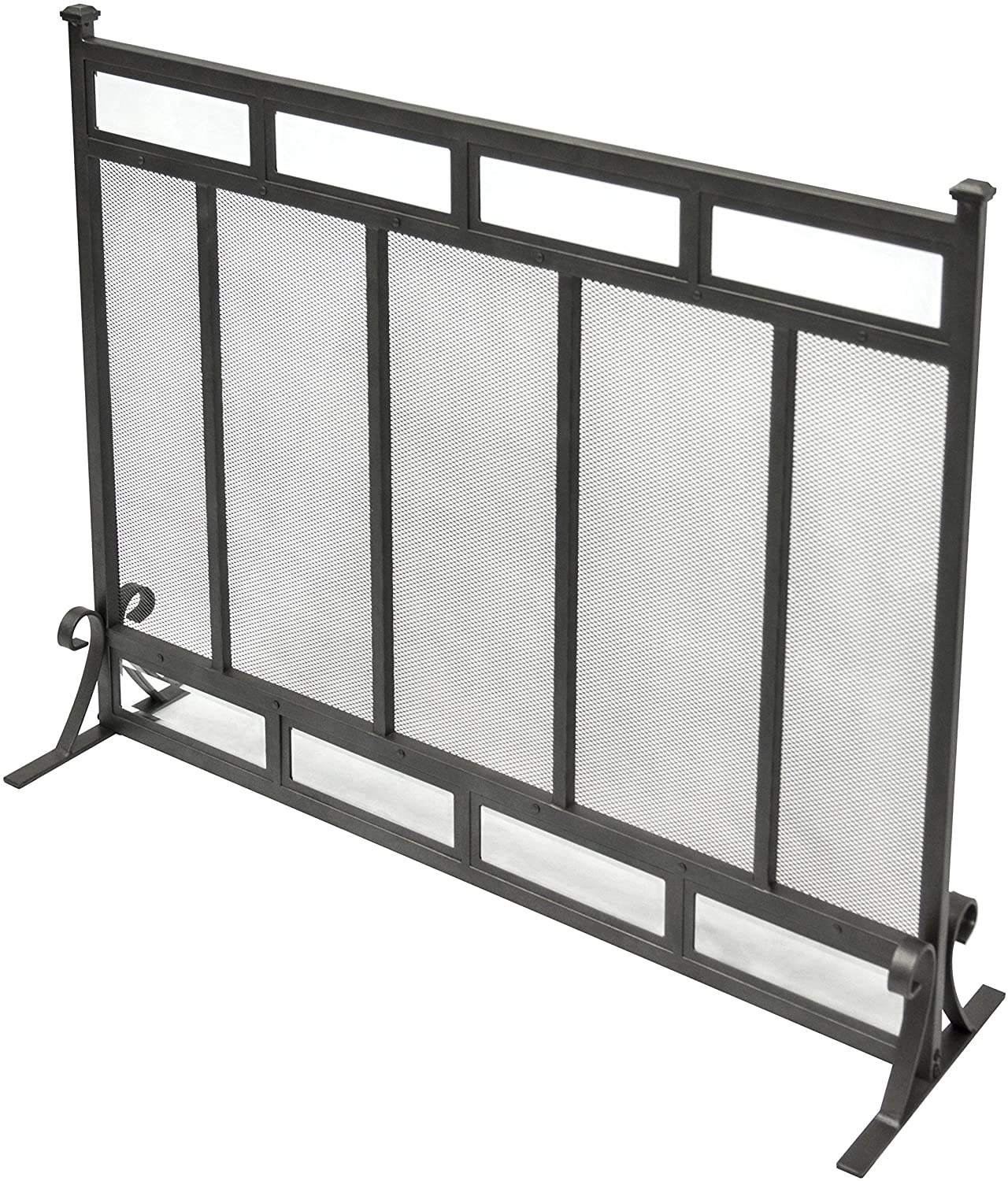 Indoor mesh fireplace screen Vintage fireplace safely frame