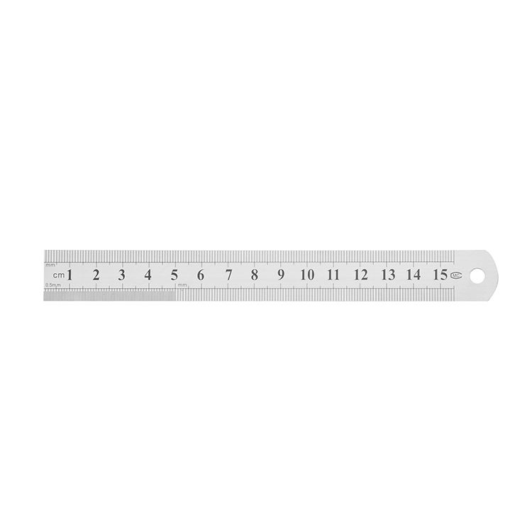 China Professional Manufacturer 6 Inch Metal Ruler 30cm Stainless Steel