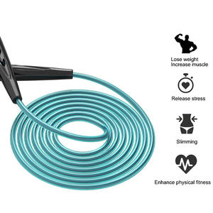 Cheap Long Handle PVC Cross Rope Wire Fitness Skipping Jump Rope