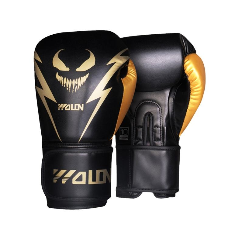 WOLON Wholesale New arrival Design your own printed High Quality Special Muay Thai leather training Boxing Gloves