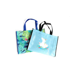 Laminated foldable handle shopping non woven bag