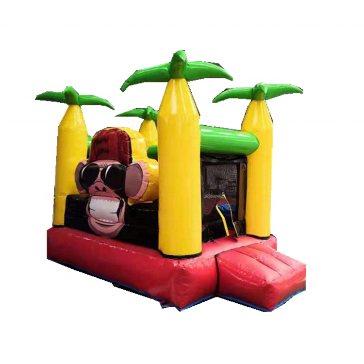 Good sale Commercial indoor inflatable bouncer / mini lovely monkey inflatable castle/candy bouncy castle house