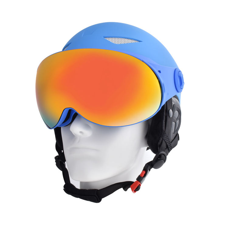 New Design Model Snow Helmet Integrative With Magnetic Ski Glasses