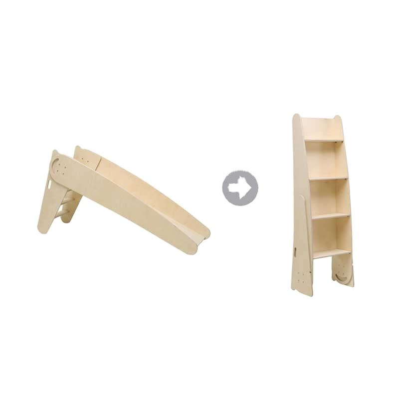 Children plywood furniture wooden slide for kids