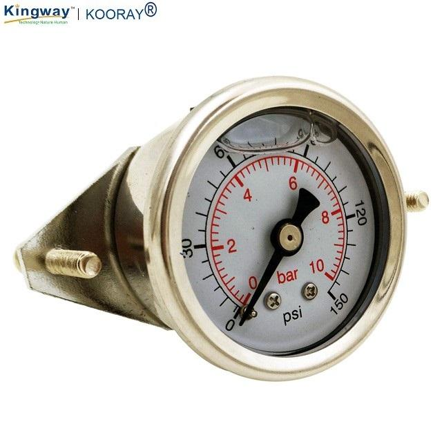 1.5inch full stainless steel Glycerine Filled pressure gauge with U-clamp