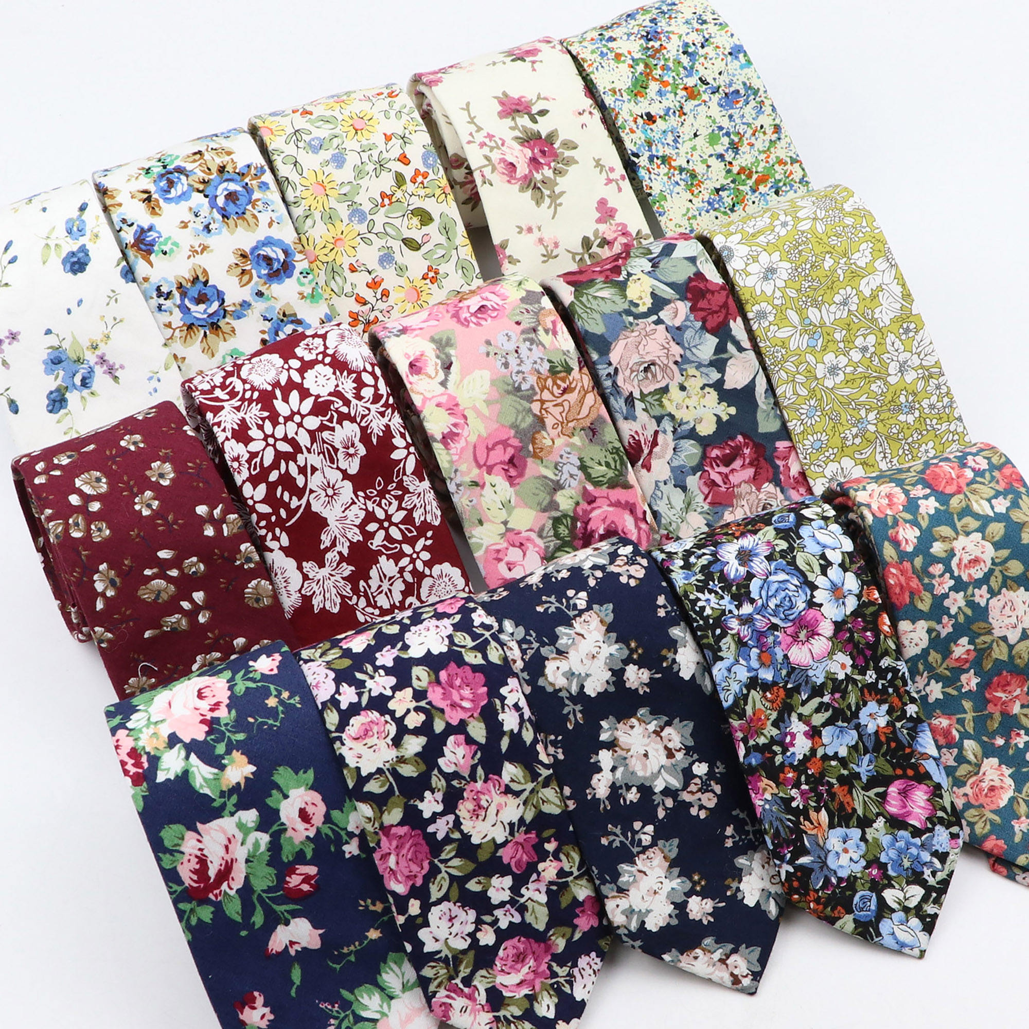 Floral Printed 6cm Neck Tie 100% Cotton Women&Men Wedding Butterfly Dress Tuxedo Gift bow tie Accessory