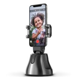 Portable All-in-one Smart Selfie Stick, 360 Rotates Auto Face & Object Tracking Vlog Shooting Smartphone Mount Holder