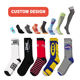 KT-K OEM fashion pattern bamboo cotton design custom logo white black crew socks sports socks men basketball socks elite for man