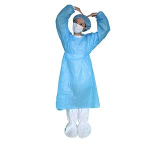 Medical isolation gown disposable PP+PE protective clothing surgical gown