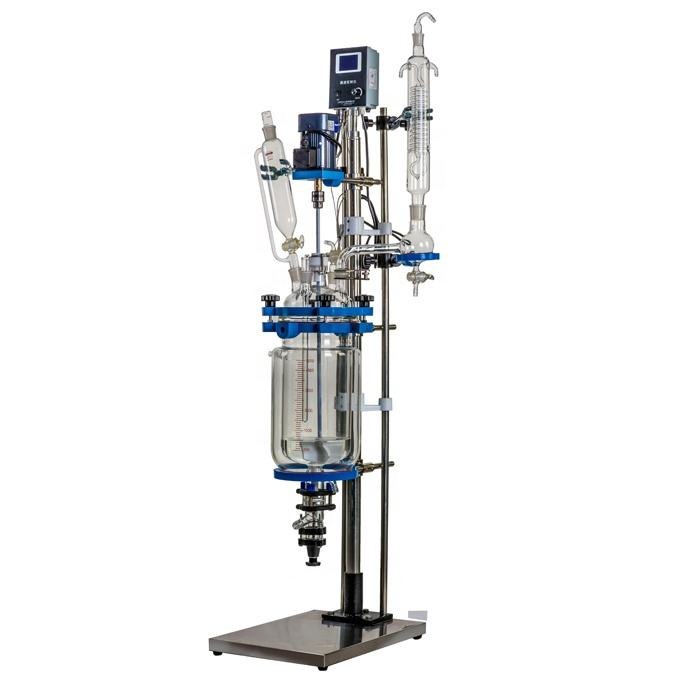 2019 Shanghai Linbel 1L Durable Customized Lab Tubular Chemical Jacketed Glass Reactor