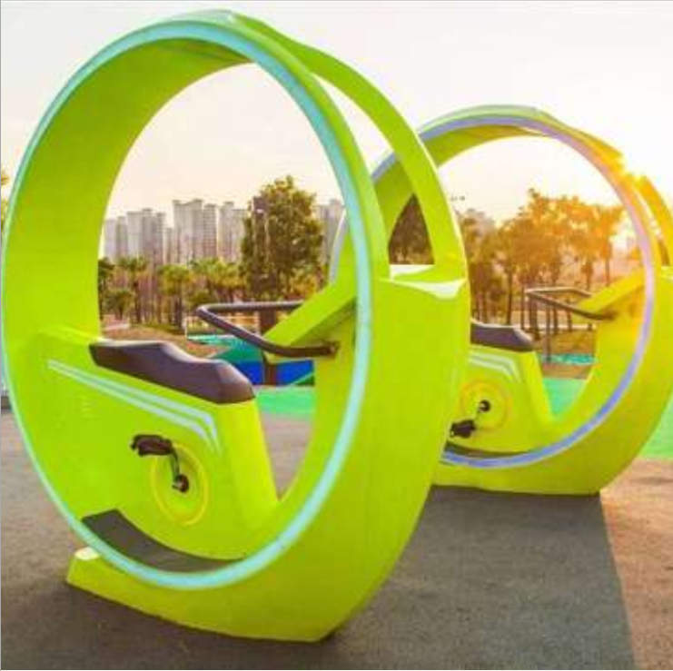 Outdoor Landscape water theme park interactive amusement park electric lighting circle bicycle