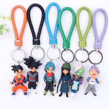2020 hot anime figure key chain, DBZ figure pendant, 6pcs/set pvc anime figure keychain