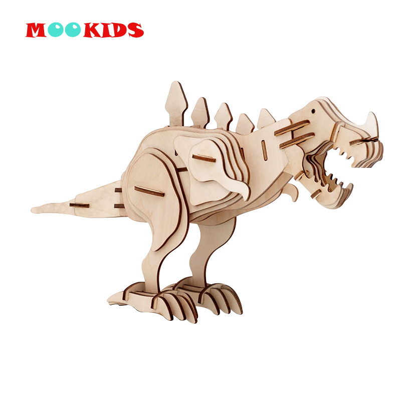 Hot Selling DIY Model Children Toy Dinosaur Tyrannosaurus Children Parent-child Interactive Family Entertainment 3D Adult Puzzle