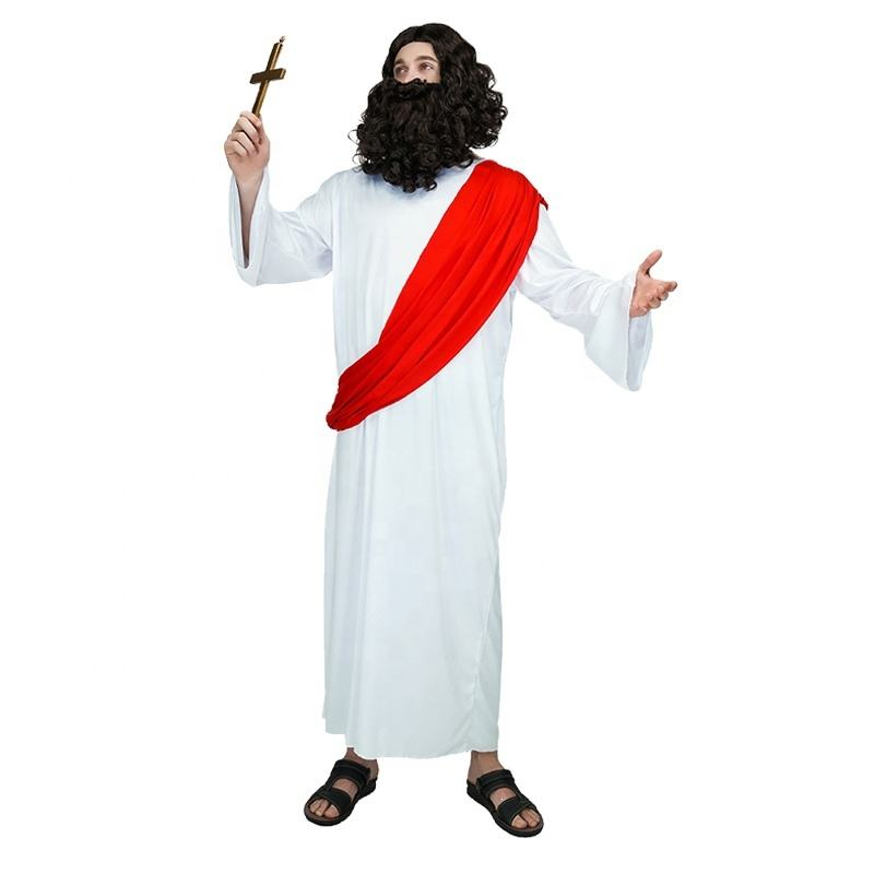 Carnival Masquerade Party Cosplay Jesus Costume party costumes Jesus Robe For Men