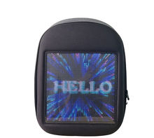 2020 Trend Newest Waterproof Phone Wifi Control Software Editing Smart Led Screen Backpack With Hidden Led Display