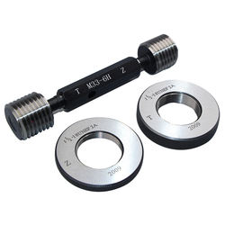 precision thread plug and ring gauges, plain cylindrical plug and ring gages