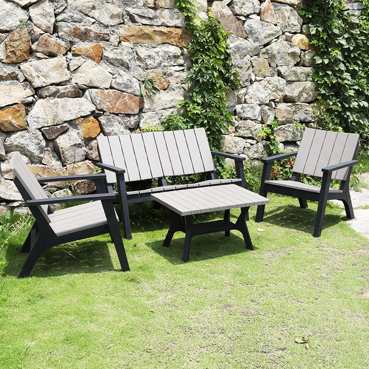 Outdoor Furniture Modern Plastic Waterproof Leisure Garden Sofa Sets
