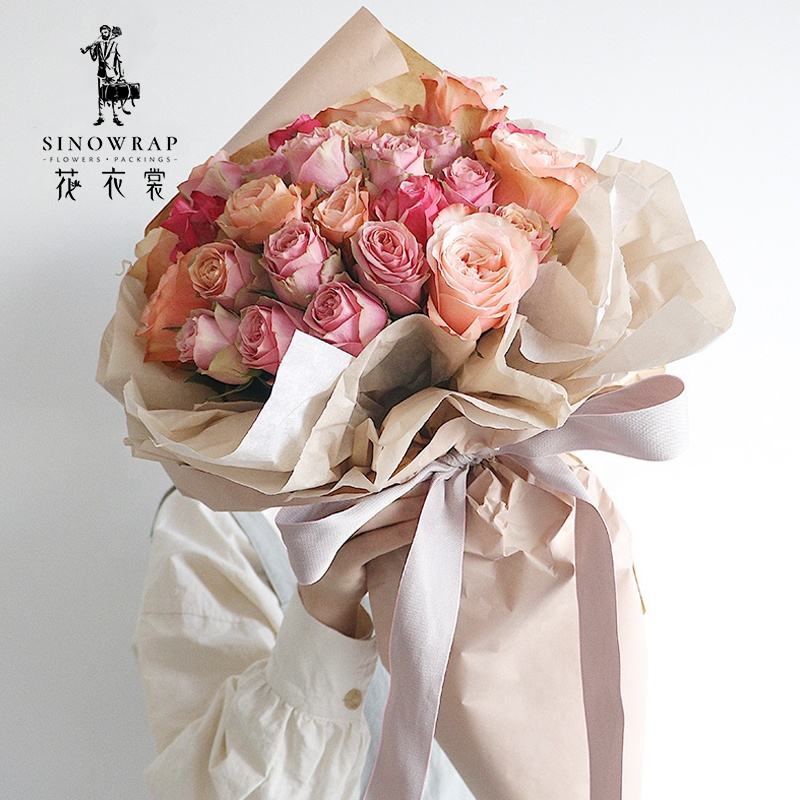 White Black Pink Blue Red Korean Flower Shop Rose Flower Bouquet Package Colorful Tissue Paper Sheet