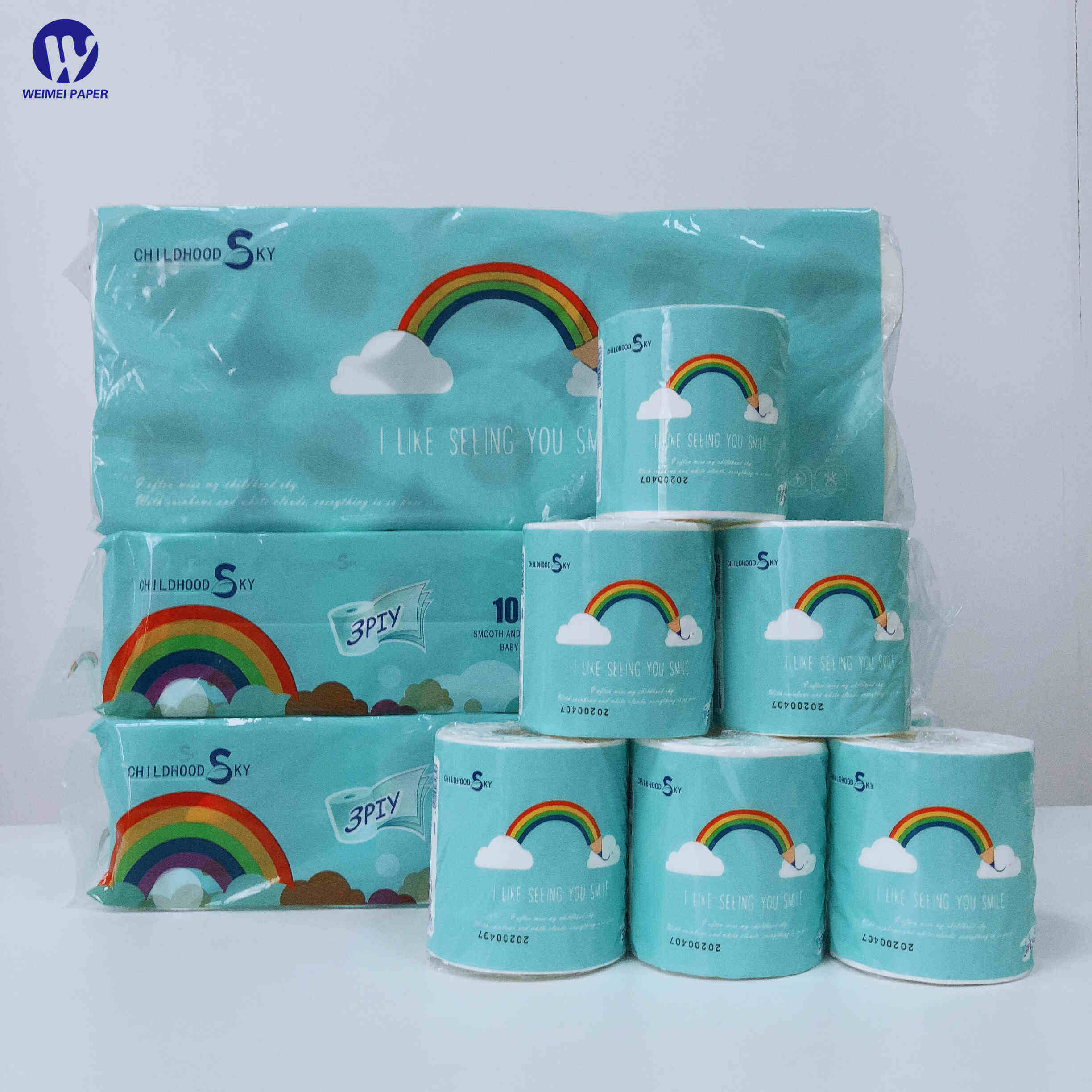 Core Toilet Paper Ready to Ship Virgin Wood Pulp Paper Tissue English Packaging roll paper towels