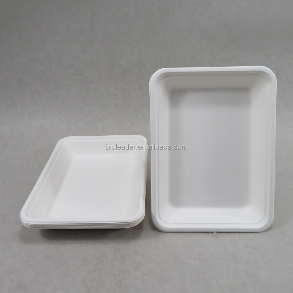 Disposable Biodegradable Fiber Pulp Food Packaging Trays
