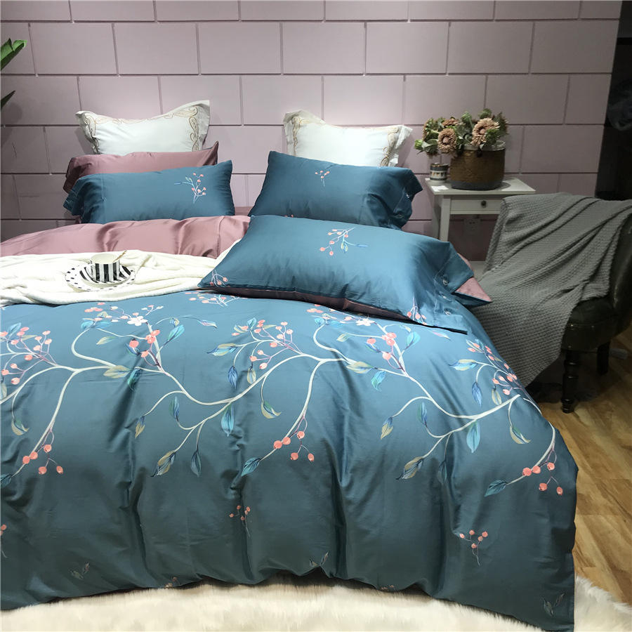 Hot Sale Stylish Comfort 60 Thread Simple Style Baby Home Bed Bedding Set