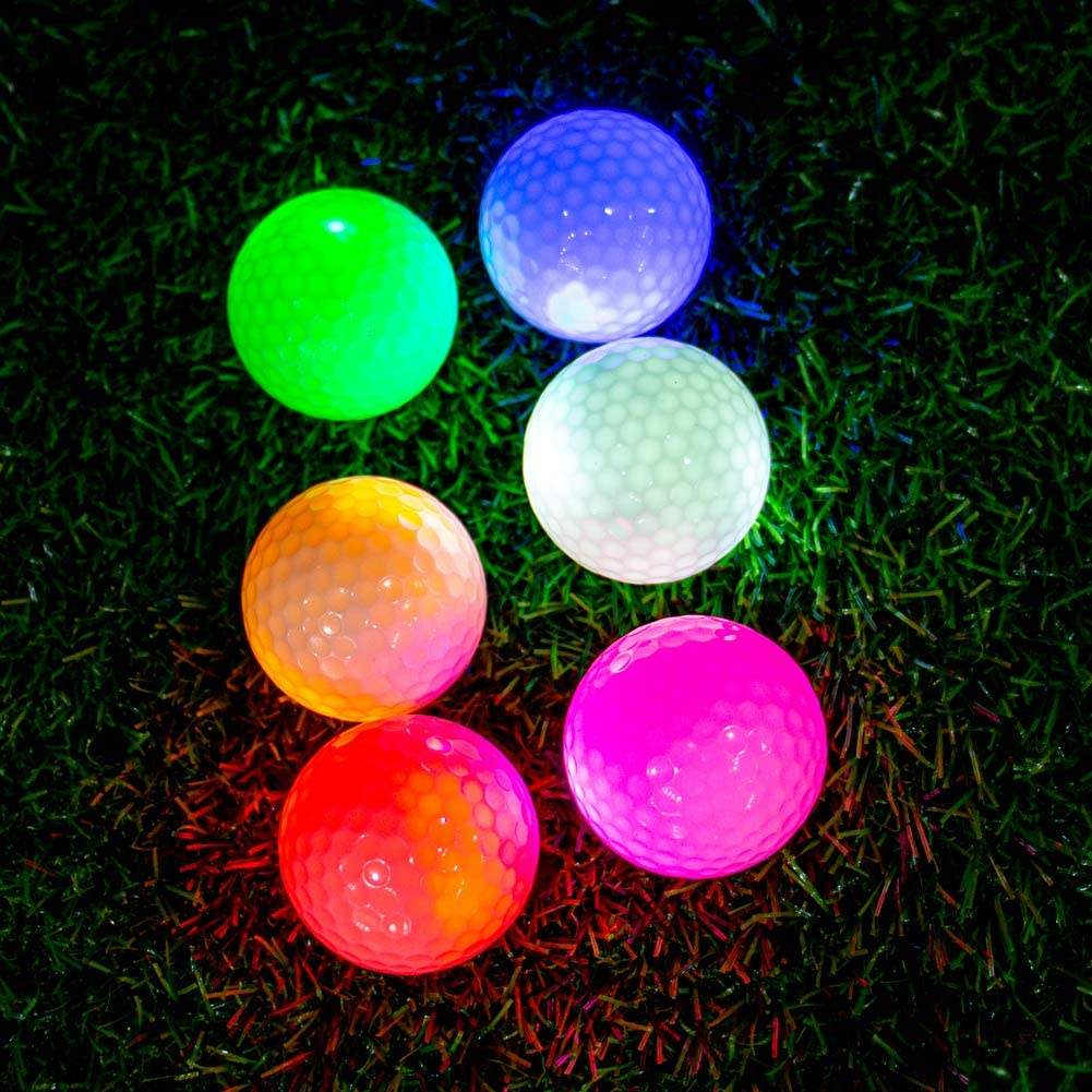 Golf Flashing Glowing Golf Ball,Night Glow Flash Light up LED Golf Ball
