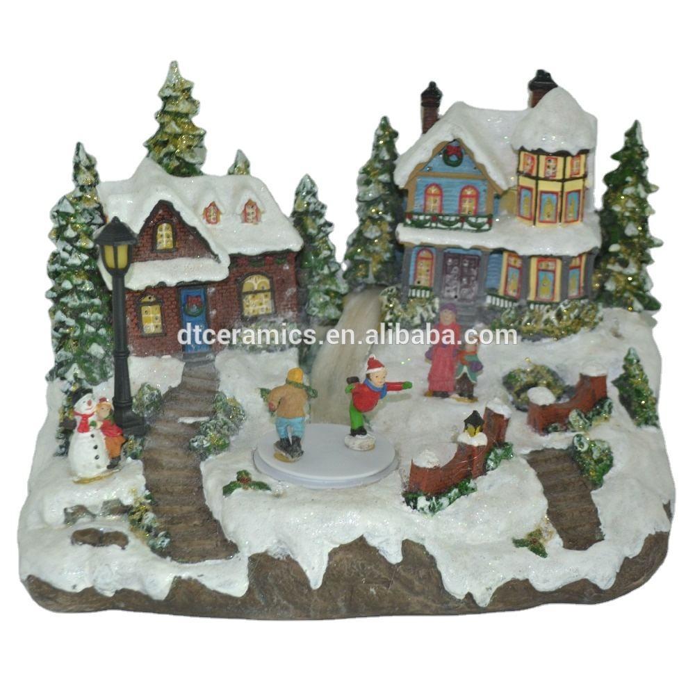 Led Lights Christmas Resin Model House