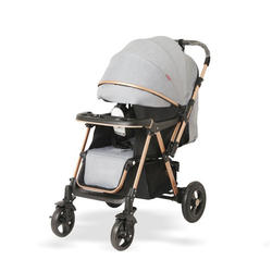 Newborn gift item aluminum frame high landscape luxury simple folding one-key storage stroller baby stroller
