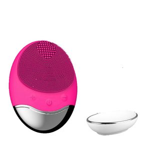 Free samples beauty products spin brush for face cheap battery facial cleansing brush silicone skin exfoliating brush