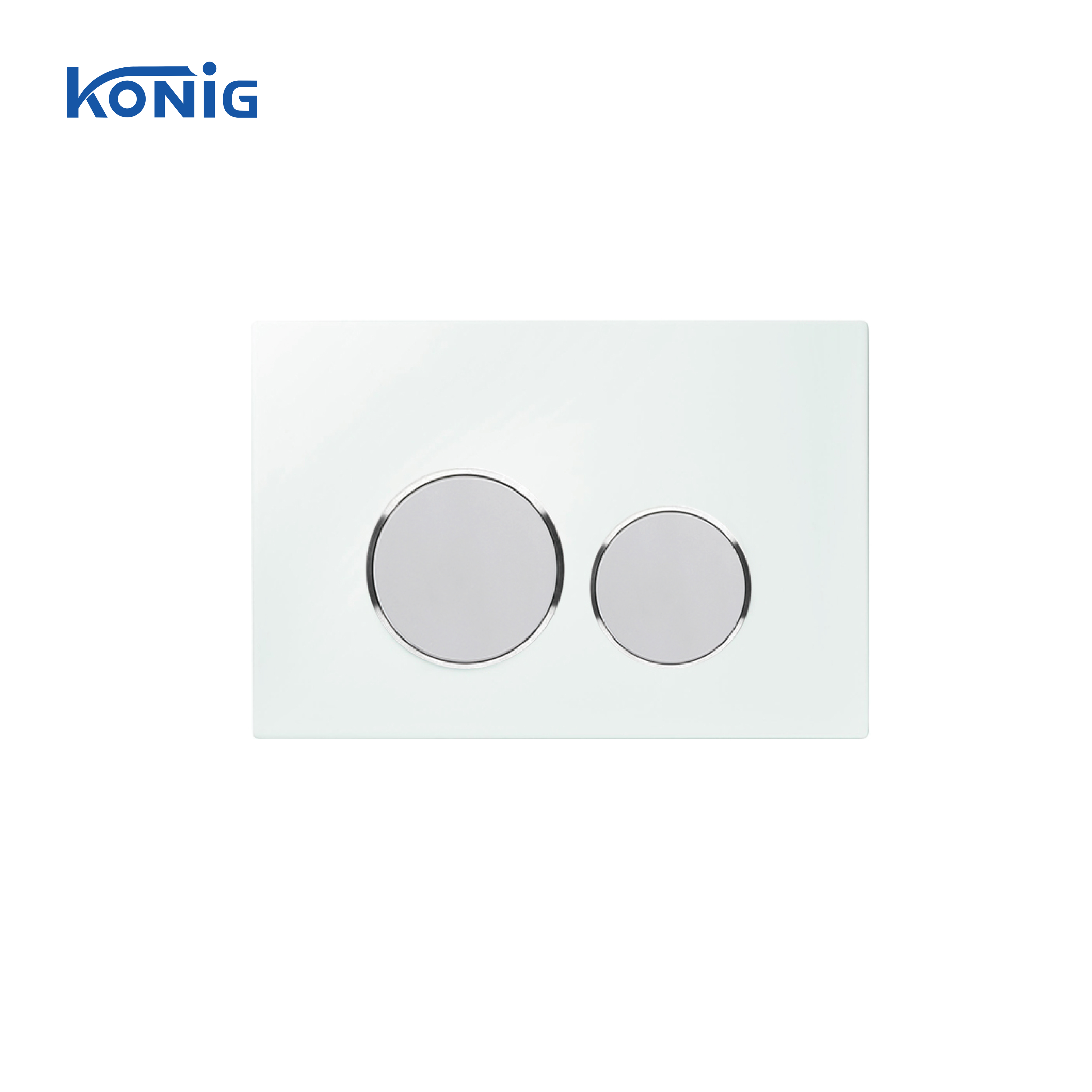 Tempered Glass Golden color Dual Flush Round Button Control Panel can match Geberit cistern Concealed Cistern Flush Plate