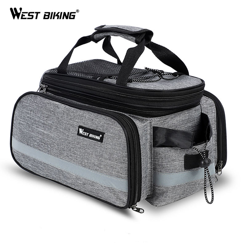 3 Colors Bike Rear Rack Bags Cycling BMX Bag+RainCover Handlebar Zipped Multifunctional Luggage 10-25L Cycling Bags
