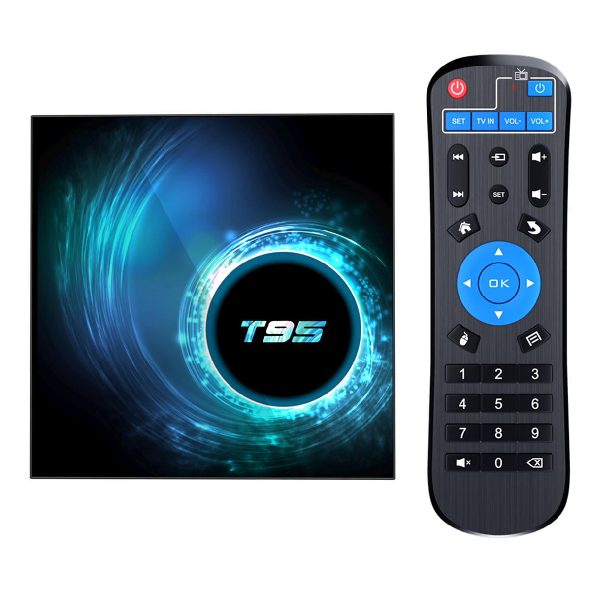 T95 H616 Quad Core Makan Siang Tvip Tvbox 4 GB 32 GB 3D Android Kamera HDR TV Box 4 K