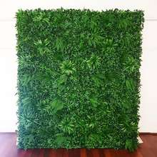 Wholesale plastic artificial green plants grass wall backdrop wedding decorations stage backdrop for wedding events