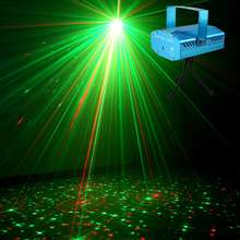 Disco DJ Party Laser Lights, Mini Auto Flash RG Color Stage Strobe Lights Sound Activated
