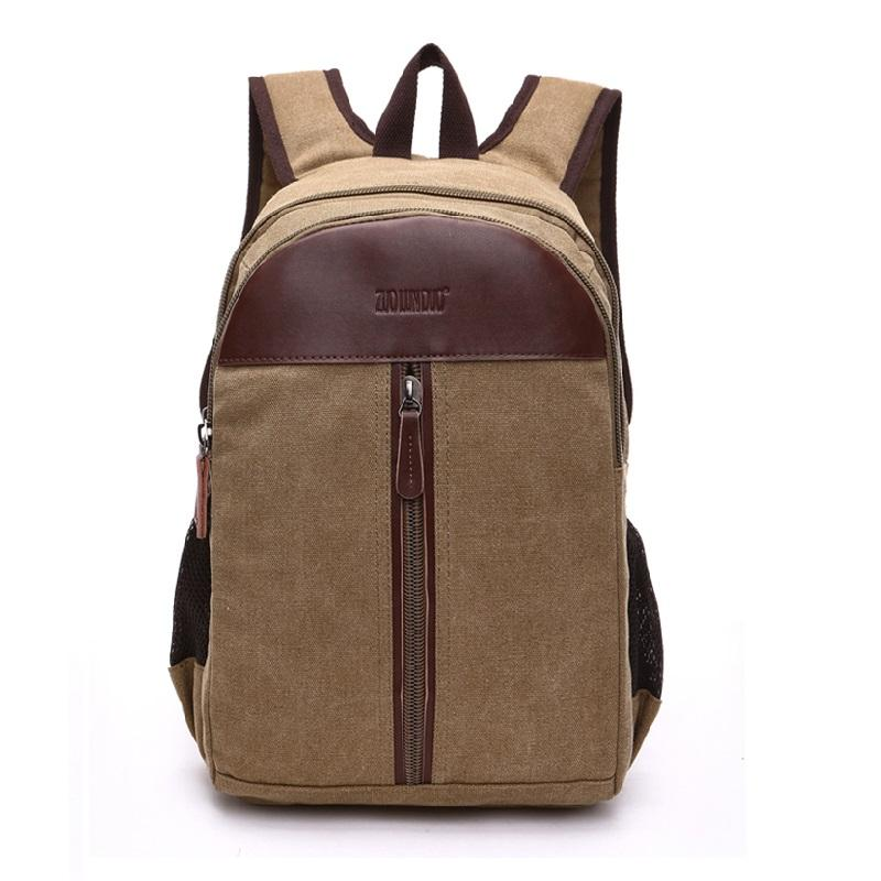 Custom popular arrived mens back pack canvas vintage business laptop school bag backpack