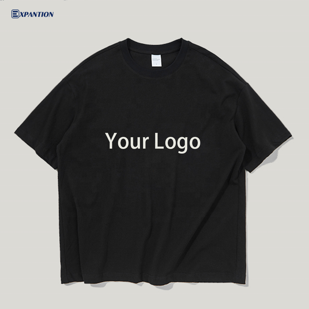 EXP OEM logo custom logo printed high quality loose fit blank 100% cotton streetwear oversized men tshirts