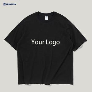 EXP OEM logo custom logo printed high quality loose fit blank 100% cotton streetwear oversized men tshirts
