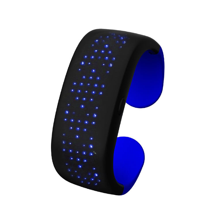 <span class=keywords><strong>Pulsera</strong></span> Slap <span class=keywords><strong>LED</strong></span> con pantalla de visualización para correr, ciclismo, caminar, trotar, fiesta, Bar event Party