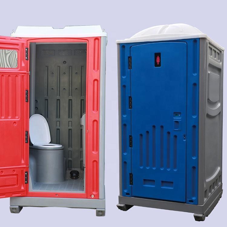 Mobile extérieure en plastique jetable porta pot toilette portative inde pour usage public
