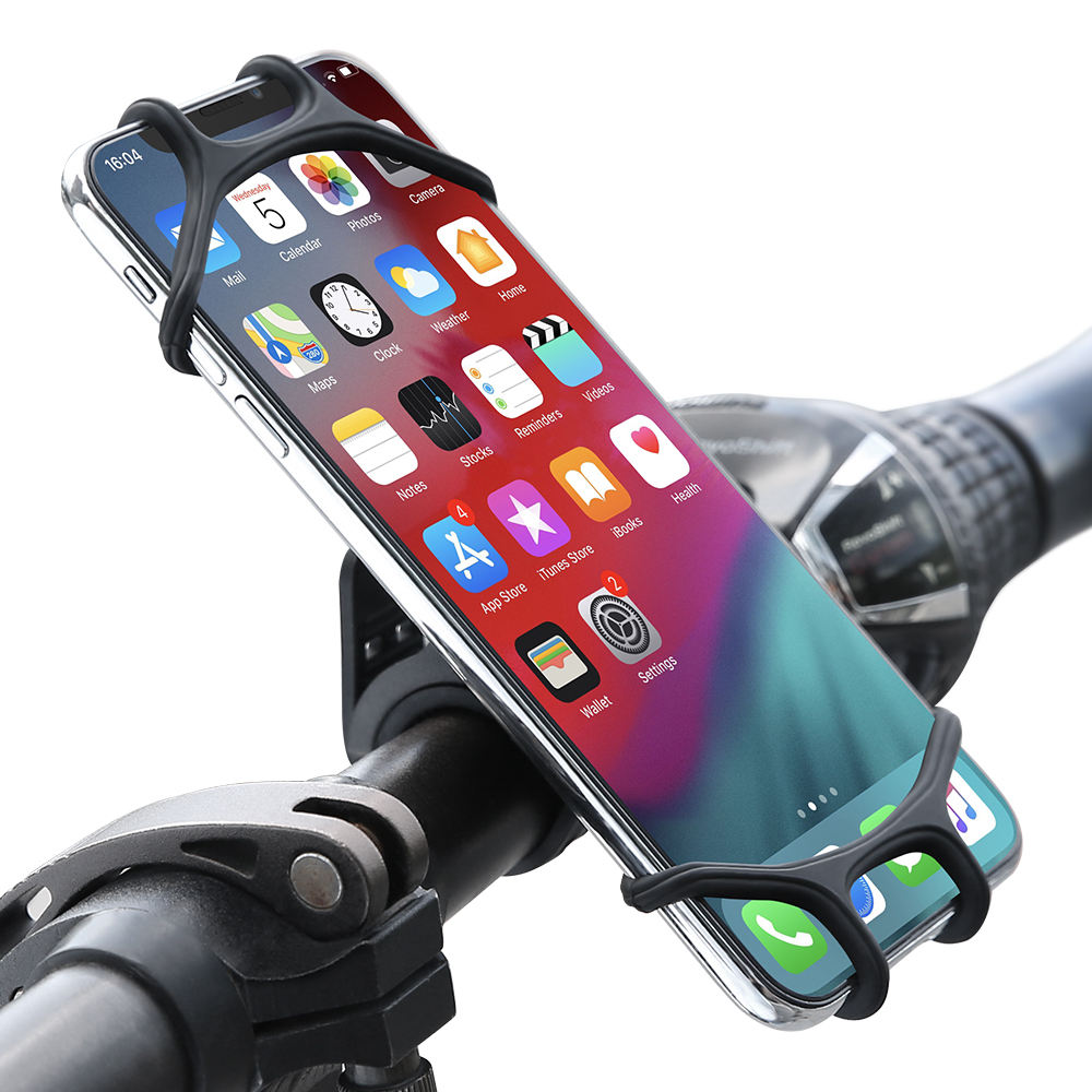 Free Shipping Floveme Flexible Bicycle Smartphone Holder 360 Rotation Silicone Bike Mount Mobile Phone Holder