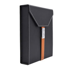 Hot Sale Black PU Leather Cigar Box with Hygrometer