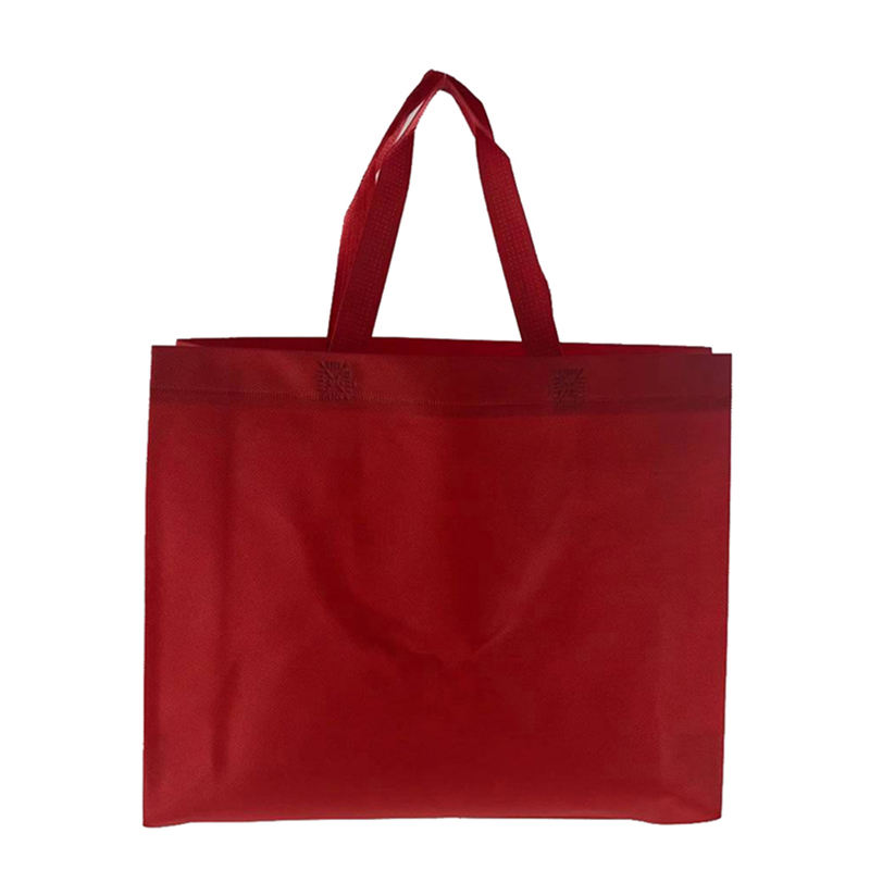 Stock Promotional Colored Non Woven Tote Shopping Bags