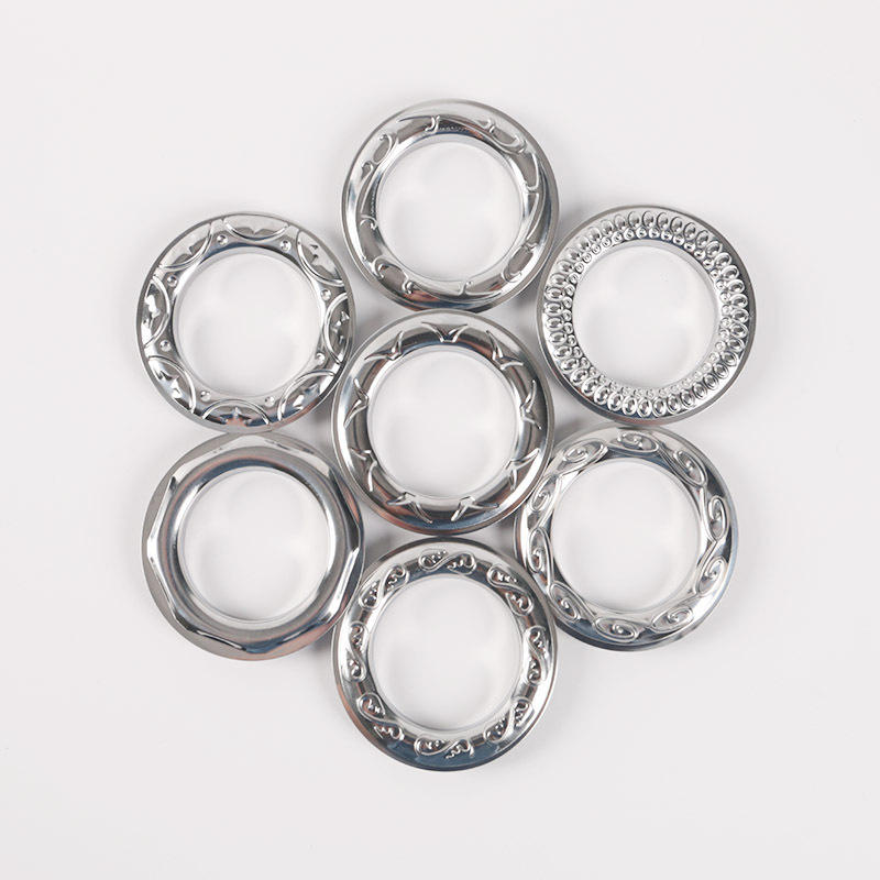 wholesale readymade eyelets stainless iron metal rings curtain grommets