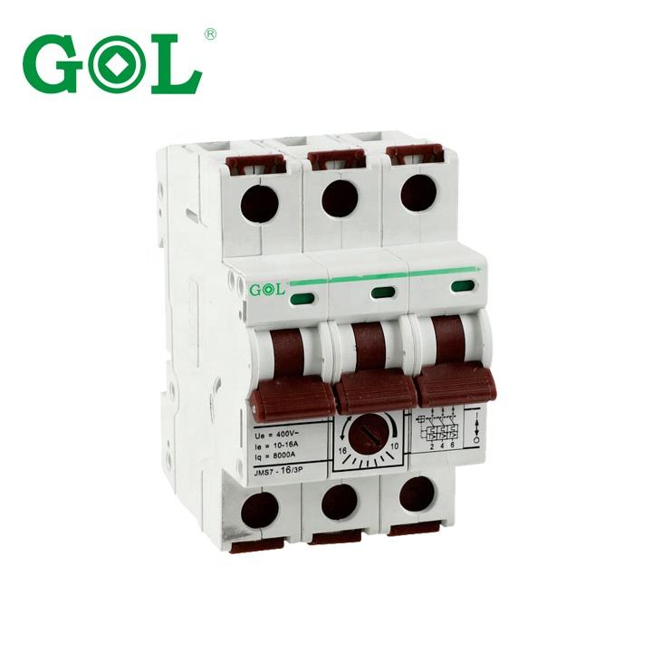 High quality Competitive price GLM10-T 3P Miniature circuit breaker(Current Adjustable) 10A 40A 380V MCB