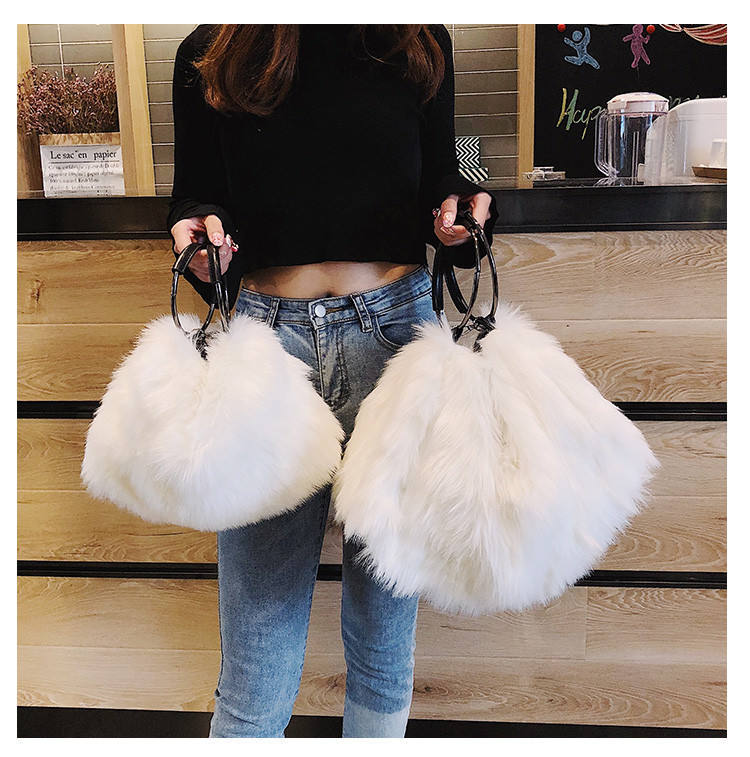 2020 Winter Ladies Fashion Wool Envelope Cluth Wrist Bag Fur Slides Designers Handbags for Women